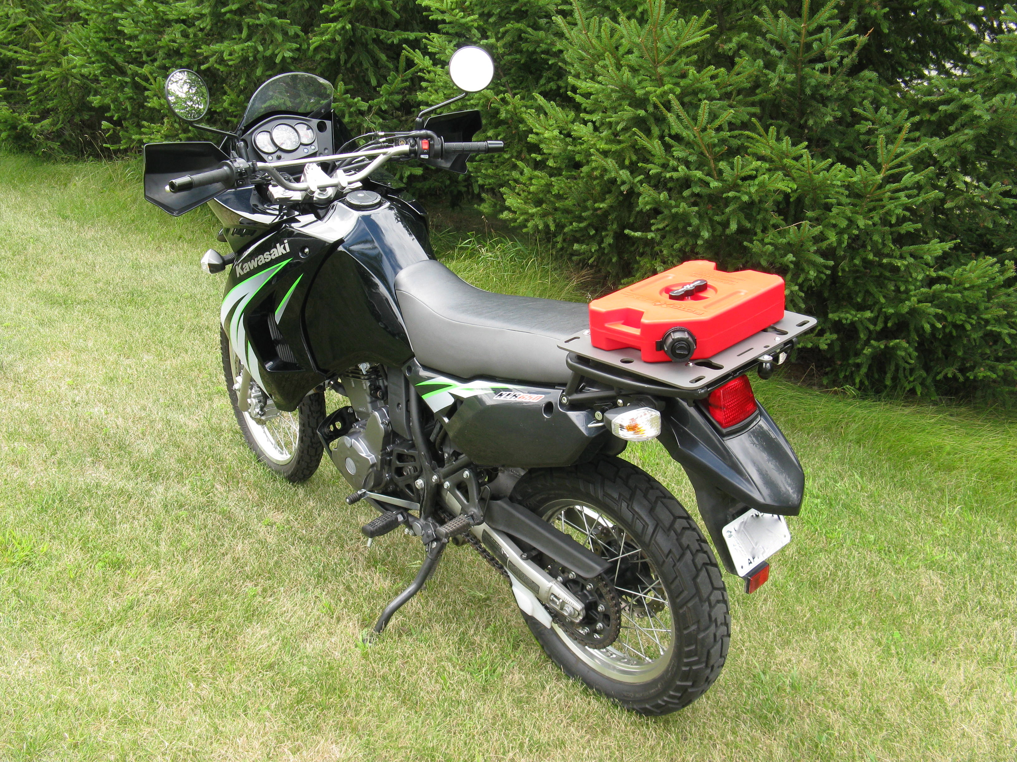 Motorcycle Tool Bag >> 2008-2018 KLR 650 Slider Rear Rack with Top Box Quick ...