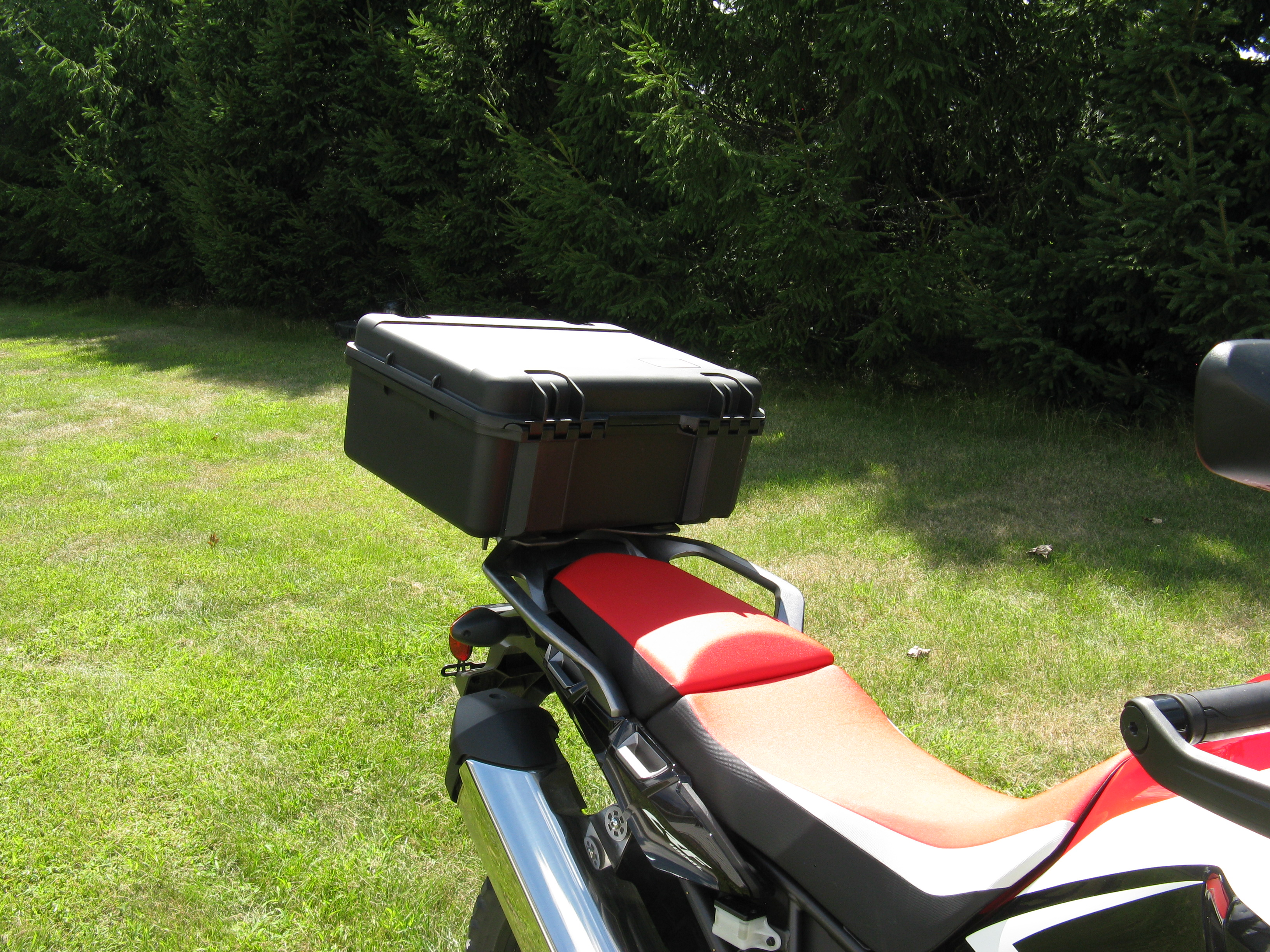 2016 and newer honda crf1000 africa twin slider rack with. Black Bedroom Furniture Sets. Home Design Ideas